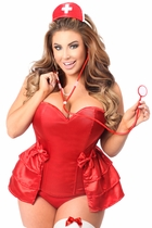 Daisy LV-424 4 PC Naughty Nurse Corset Costume