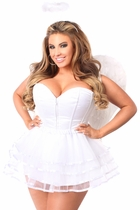 Daisy LV-429 4 PC White Angel Corset Costume