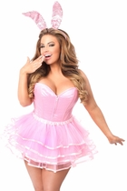 Daisy LV-433 Lavish 3 PC Flirty Pink Bunny Costume