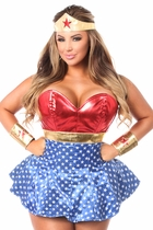 Daisy LV-440 3 PC Superhero Corset Dress Costume
