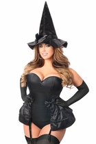 Daisy LV-445 4 PC Midnight Witch Corset Costume