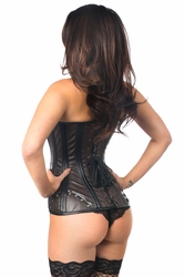 Daisy TD-043 Faux Leather Steel Boned Corset