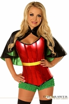 Daisy TD-118 Top Drawer Superhero Sidekick Corset Costume
