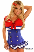 Daisy TD-120 Top Drawer 3 PC Pin-Up Sailor Girl Costume