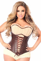 Daisy TD-499 Faux Leather Steel Boned Ren Faire Corset