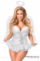Daisy TD-914 Top Drawer Premium Sequin Angel Corset Dress Costume
