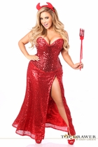 Daisy TD-919 Top Drawer Premium Sequin Devil Costume