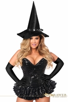 Daisy TD-926 Top Drawer Premium Sequin Witch Corset Dress Costume