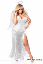 Daisy TD-932 Top Drawer Premium Sequin Angel Corset Costume