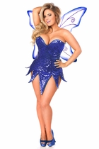Daisy TD-937 Blue Sequin Fairy Corset Dress Costume