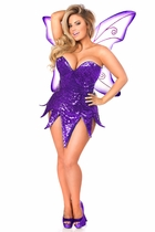 Daisy TD-939 Purple Sequin Fairy Corset Dress Costume