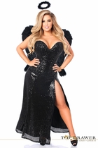 Daisy TD-942 Top Drawer Premium Dark Angel Corset Costume