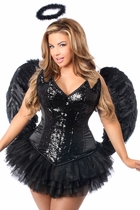 Daisy TD-955 4 PC Sequin Night Angel Corset Costume