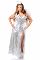 Daisy TD-968 4 PC Premium Sequin Angelic Corset Costume