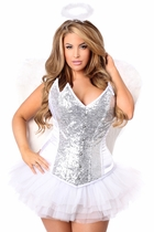Daisy TD-970 4 PC Heavenly Angel Corset Costume