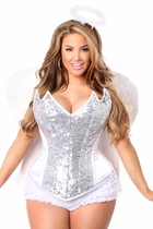 Daisy TD-971 4 PC Sweet Angel Corset Costume