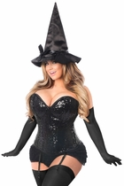 Daisy TD-973 4 PC Sequin Witch Corset Costume