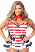 Daisy TD-991 4 PC Pin-Up Sailor Corset Costume