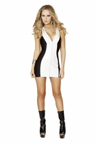 Dancewear 1pc Mini Dress w/ Full Zip Up Front Detail