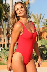 Ujena Double Dip One Piece Sexy Bathing Suit