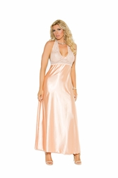 Elegant Moments 1969 Halter Neck Gown
