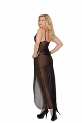Plus Size Elegant Moments 1978X Long Mesh Gown to 5X
