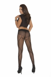 Elegant Moments 1776 Fishnet Pantyhose with Criss Cross Design