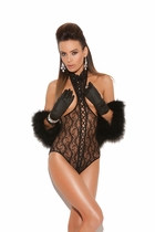 Elegant Moments 8743 Lace Cupless Teddy