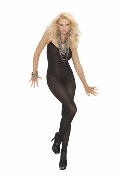 Elegant Moments 1601 Opaque Bodystocking W/Spaghetti Straps
