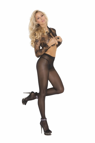 Elegant Moments 1777 Opaque Sheer to Waist Pantyhose
