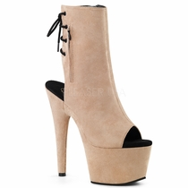 Pleaser Adore-1018FS Suede Lace Up Ankle Boot