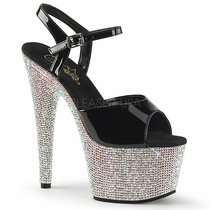 Pleaser Bejeweled-709DM Ankle Strap Sandal With R/S