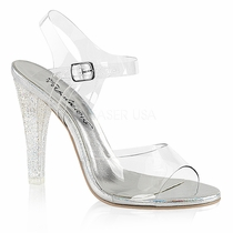 Fabulicious Gala 08MMG Ankle-Strap Sandal(Women's) -Clear PVC/Clear For Sale Cheap Price From China b8ReP3bz
