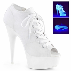 Pleaser Delight-600SK-01 Open Toe Canvas Sneaker