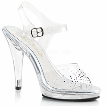 Pleaser Flair-408SD Ankle Strap Sandal With R/S Vamp