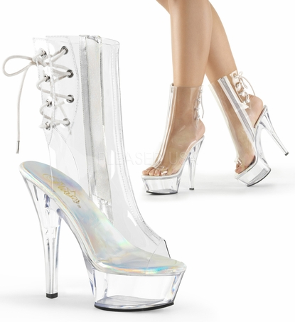 Pleaser Kiss-1018C Lace Up Back Ankle Boot