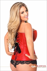 Plus Size Daisy TD-821 Red Brocade Steel Boned Corset