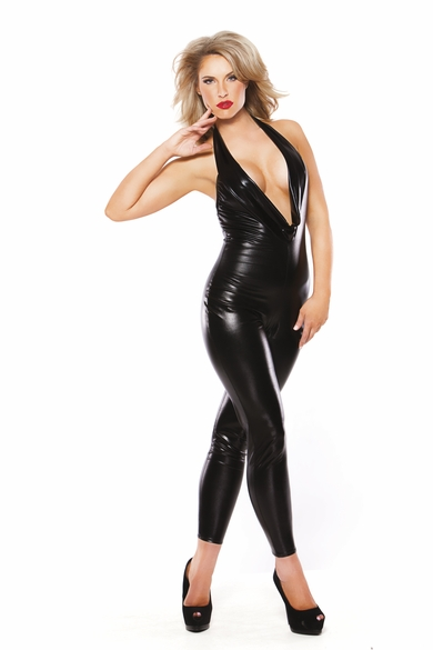 Allure 10-1062K Captivating Wet Look Kitten Catsuit