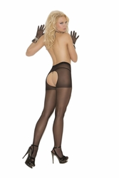 Elegant Moments 1726 Sheer Crotchless Pantyhose