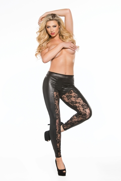 Allure 16-2602K Lace & Wet Look Leggings