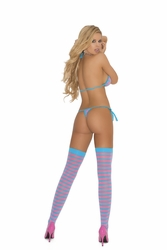 Elegant Moments 1404 Bra With Thong and Stockings