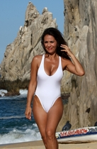 Ujena California White One Piece Swimwear