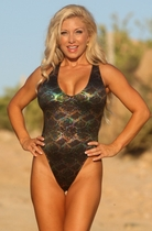 Ujena Hypnotic Black One Piece Swim Suit