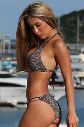 Ujena Cobra Two Strap Snakeskin Bikini Bathing Suit