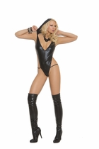 Elegant Moments 7177 Wet Look Hooded Teddy