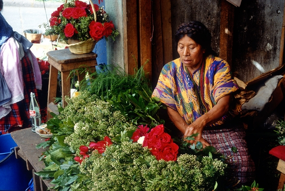 Antigua Mayan Flower Vendor