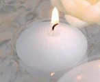 """1 3/4"""" White Candle Floats Floating Candles, Set of 30"""