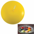 """1.75"""" Yellow Candle Floats Floating Candles, Set of 20"""