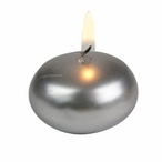 """1"""" Silver Floats Floating Candles, Set of 40"""