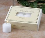 10 Hour White Votive Candles, Set of 288